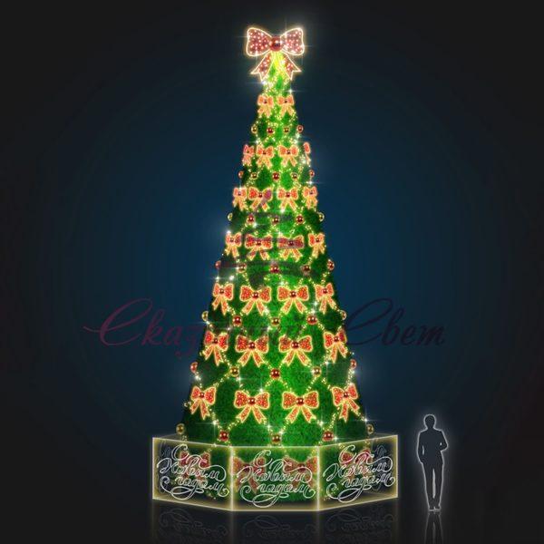 Новогодняя елка В 10,0 м х Ш 5,0 м х Г 5,0 м - 3D SE 307 1