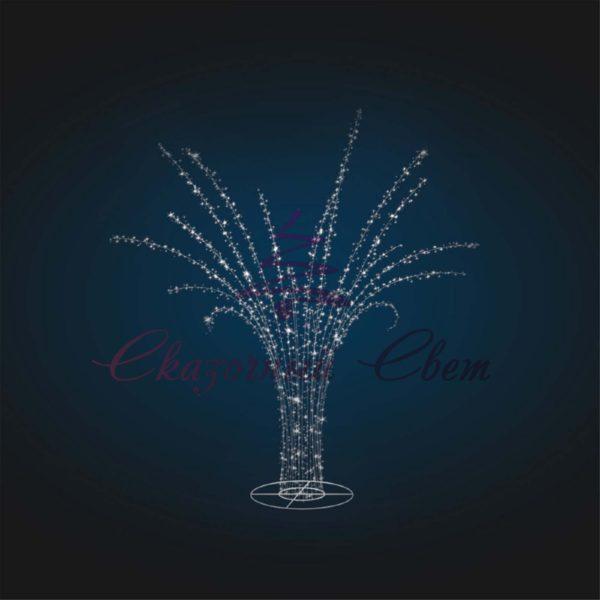Световая декорация Пальма (со светодиодной нитью) В 4,0 м х Ш 4,0 м х Г 4,0 м - 3D SE 46 1