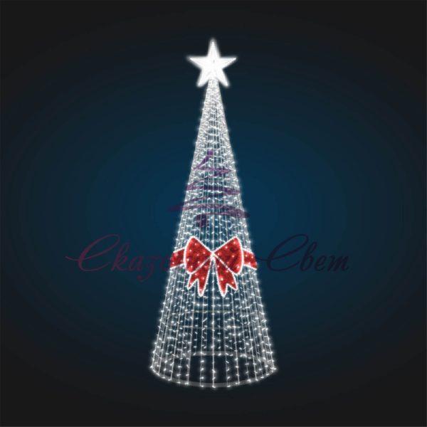 Новогодняя декорация Елка с бантом В 5,0 м х Ш 1,8 м х Г 1,8 м - 3D SE 64 1