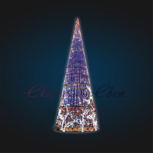 Объемно-пространственная композиция Конус Новогодний В 10,0 м х Ш 3,9 м х Г 3,9 м - 3D SE 75 1