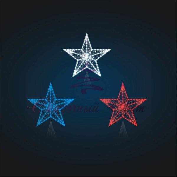 Макушка на Елку Звезда 5 (с нитью) В 1,0 м х Ш 1,2 м х Г 0,4 м - 3D ST 31-1 1
