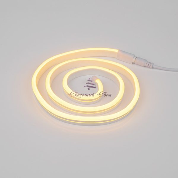 Гибкий неон LED 12V 6х12мм, кратность резки 1cм, теплый белый 1