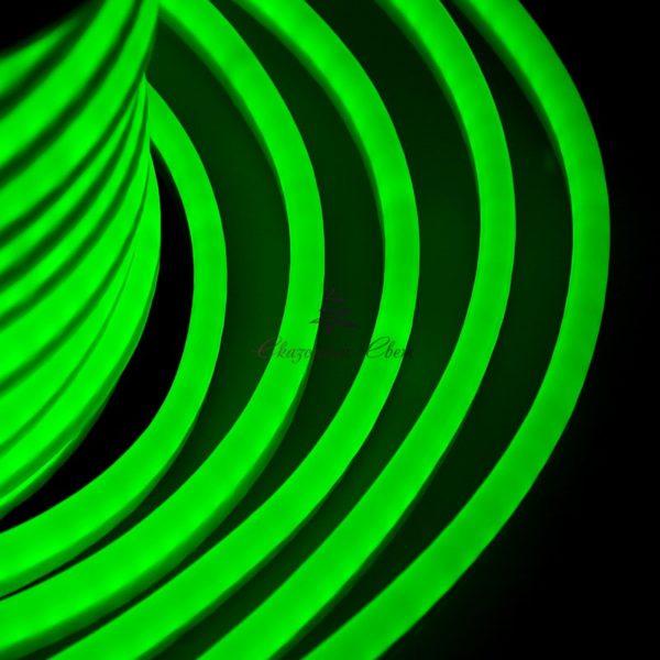 Гибкий неон LED 220V 8х16мм, кратность резки 1м, зеленый 1