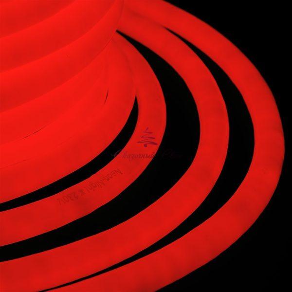 Гибкий Неон LED 220V D16мм, кратность резки 1м, красный 1