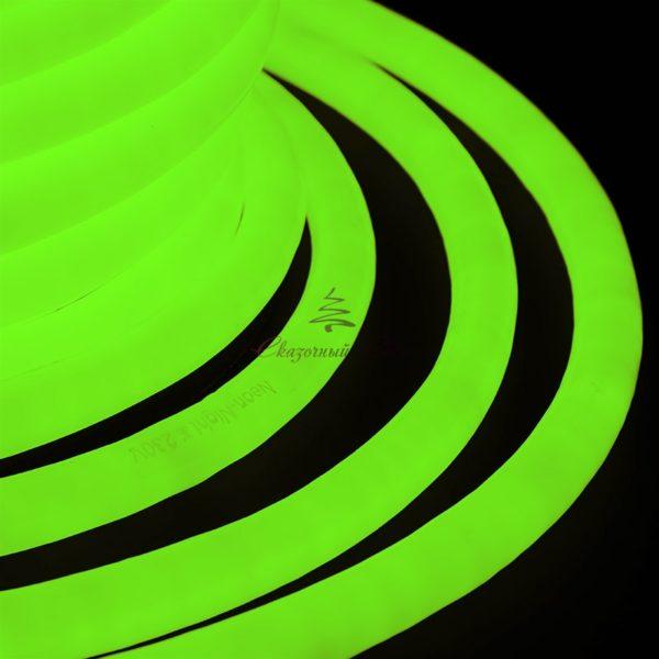 Гибкий Неон LED 220V D16мм, кратность резки 1м, зеленый 1