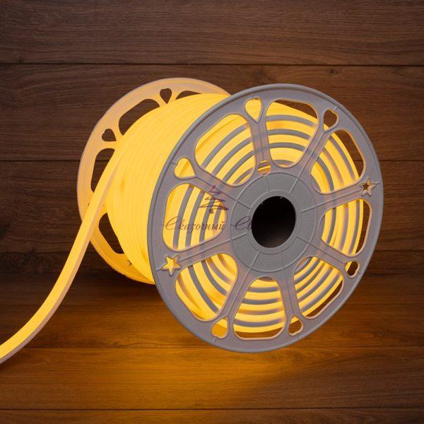 Гибкий неон LED 12V 6х12мм, кратность резки 1cм, желтый 1