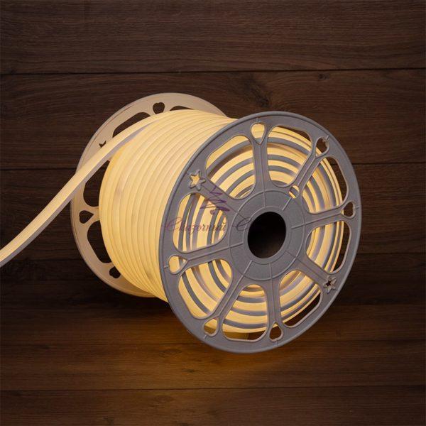 Гибкий неон LED 220V 8х16мм, кратность резки 1м, теплый белый 1