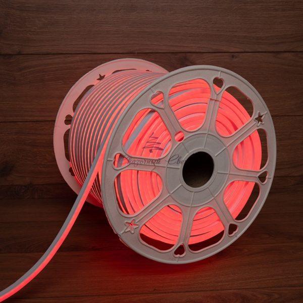 Гибкий неон LED 12V 8х16мм, кратность резки 2.5cм, красный 1