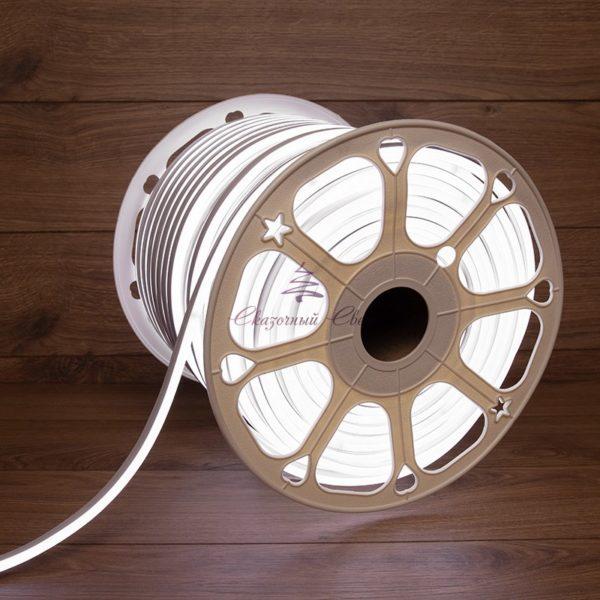 Гибкий неон LED 220V 8х16мм, кратность резки 1м, белый 1