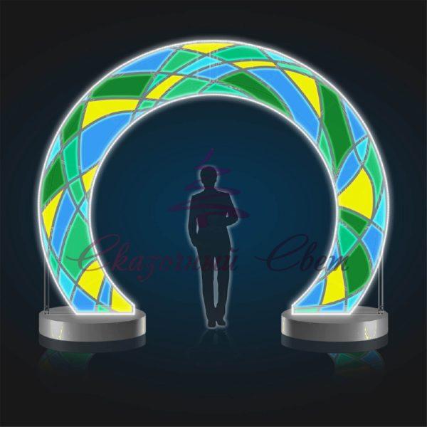 Световая арка Сочи В 3,5 м х Ш 4,0 м х Г 1,0 м - AR 17 1