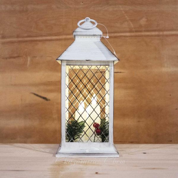 Светодиодный фонарь с светодиодными свечами 3 шт., теплый белый 1