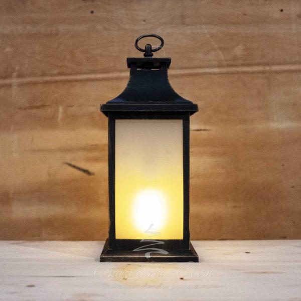 Светодиодный фонарь с LED-свечой, эффект пламени огня, желтый 1