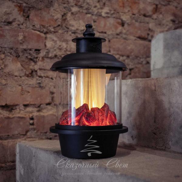 Светодиодный фонарь с имитацией живого огня, теплый белый 2