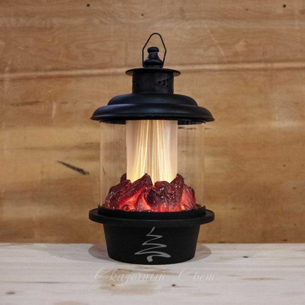 Светодиодный фонарь с имитацией живого огня, теплый белый 1