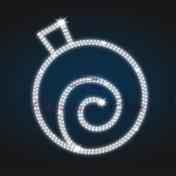 Новогодний мотив Елочный шар В 1,0 м х Ш 0,9 м - BA 02-1 1
