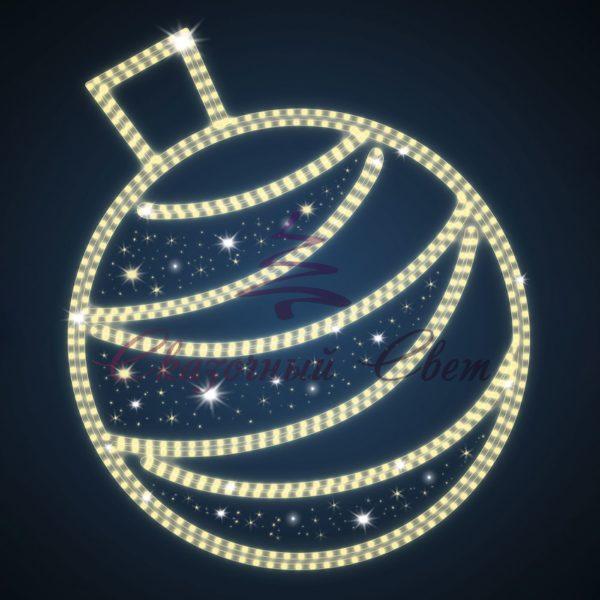 Новогодний мотив Елочный шар BA 04 - Ш 1,30 м х В 1,50 м 1