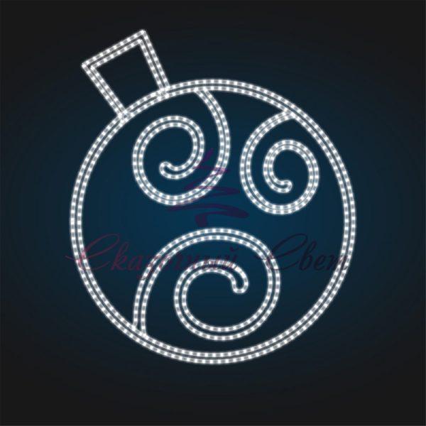 Новогодний мотив Елочный шар В 1,0 м х Ш 0,9 м - BA 06 1