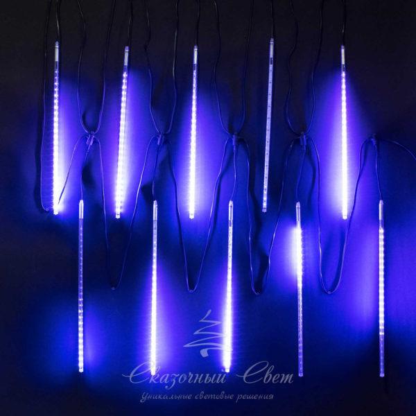 """Комплект """"Тающие сосульки"""" 10 шт. 10 x 0,5 м, черный провод, 720 led, синий 2"""