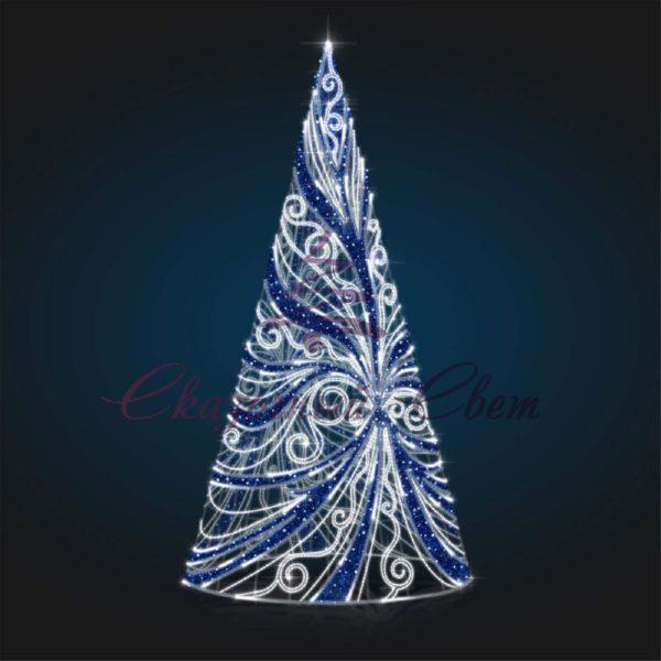 Световая елка В 5,0 м х Ш 2,5 м х Г 2,5 м - CN 15 1
