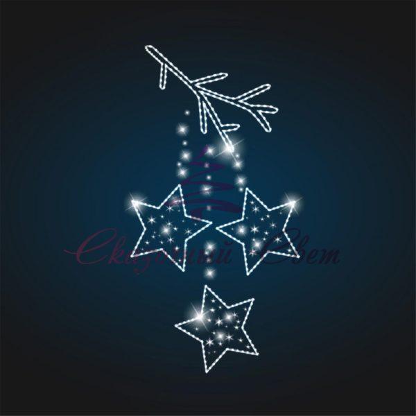 Консоль Звезды на ветке В 1,8 м х Ш 1,0 м - CO 07 1