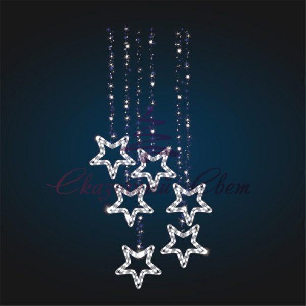 Консоль Подвеска со звездами В 2,5 м х Ш 1,1 м - CO 09 1