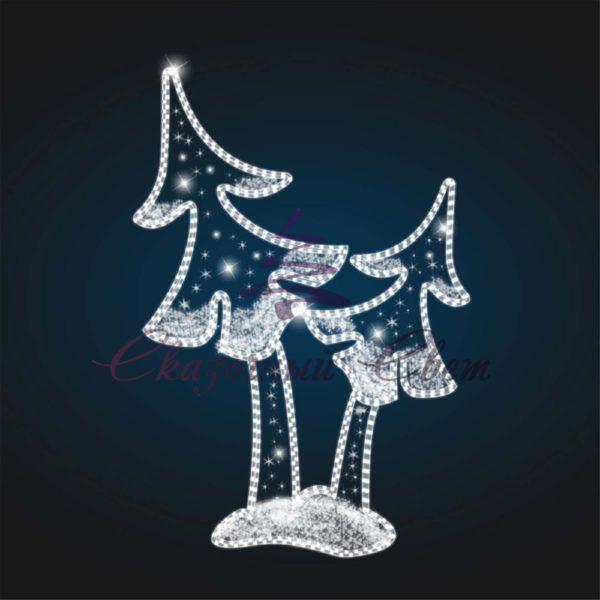 Панно уличное Рождественская елка COM 02 - Ш 2,00 м х В 3,00 м 1