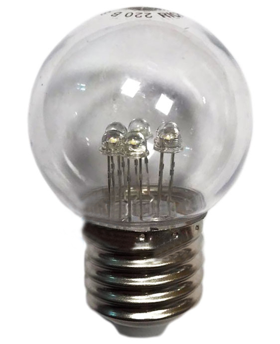 Светодиодная DIP-лампа для Белт-лайта Rich LED, 220В, 1 Вт, d=45 мм, теплая белая 1