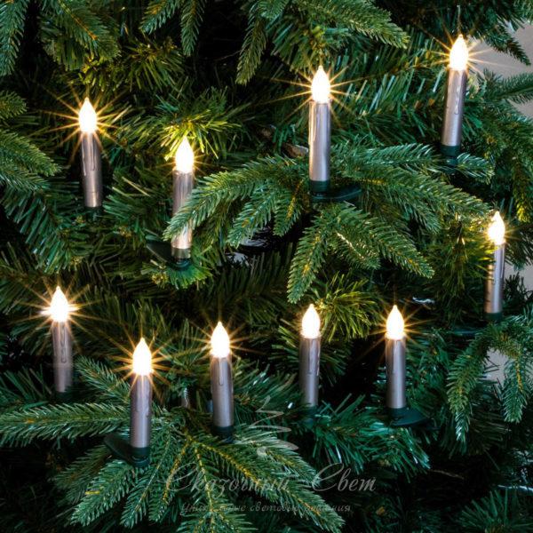 10 светодиодных свечей с пультом дистанционного управления, теплый белый 4