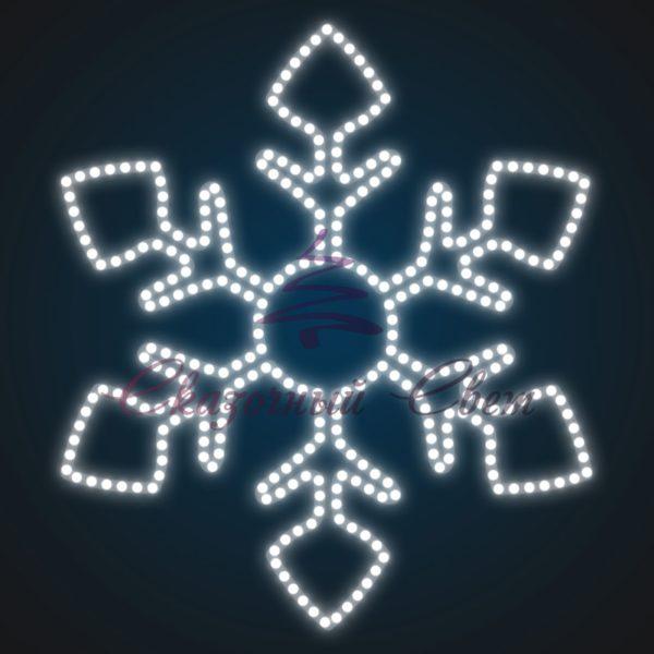 Новогодний мотив Снежинка FL 14 - Ш 0,60 м х В 0,70 м 1