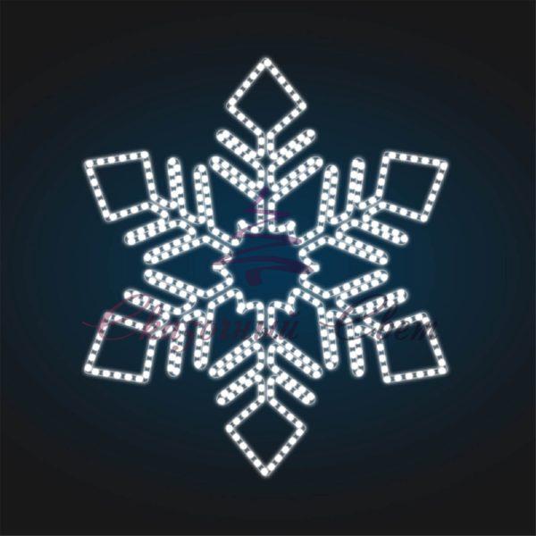Новогодний мотив Снежинка FL 15-1 - Ш 1,30 м х В 1,50 м 1