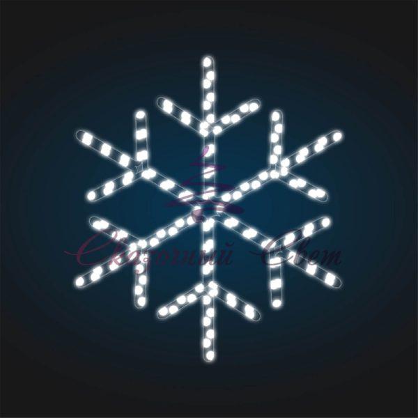 Новогодний мотив Снежинка В 2,0 м х Ш 1,75 м - FL 19-3 1