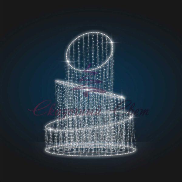 Новогодняя световая декорация Круги В 4,0 м х Ш 3,0 м х Г 3,0 м - FON 14 1