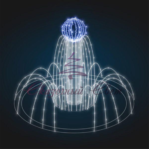 Фонтан светодиодный Пламя В 3,0 м х Ш 4,0 м х Г 4,0 м - FON 20 1