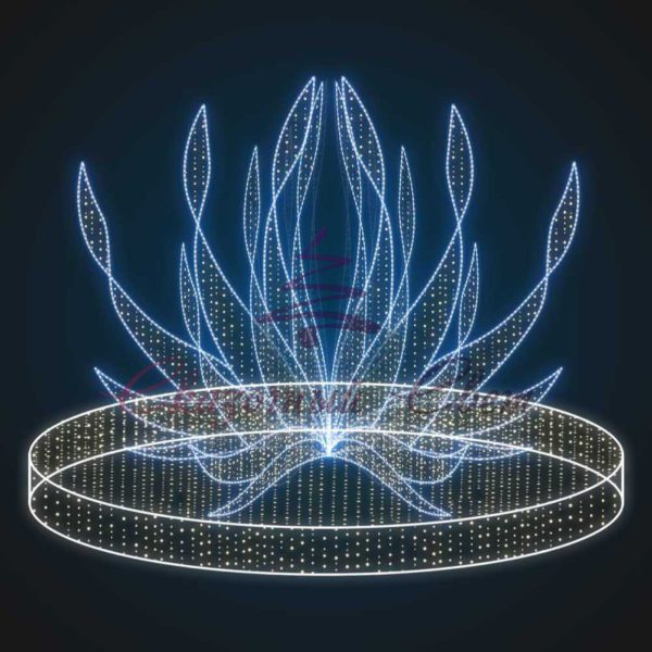 Световой новогодний фонтан Огниво В 3,0 м х Ш 4,5 м х Г 4,5 м - FON 24 1