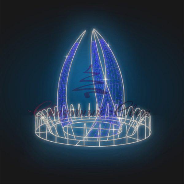 Фонтан светодиодный Пламя В 2,0 м х Ш 2,3 м х Г 2,3 м - FON 9 1