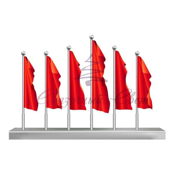 Флаговая конструкция ФПК 001 - В 6,0 м х Ш 4,8 м х Г 1,0 м 1
