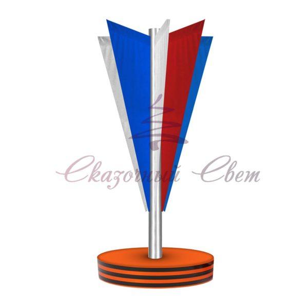 Флаговая конструкция ФПК 003 - В 4,0 м х Ш 1,8 м х Г 1,8 м 1