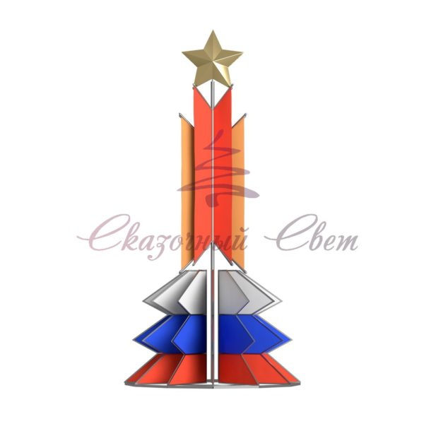 Флаговая конструкция ФПК 010 - В 3,0 м х Ш 6,0 м х Г 3,0 м 1
