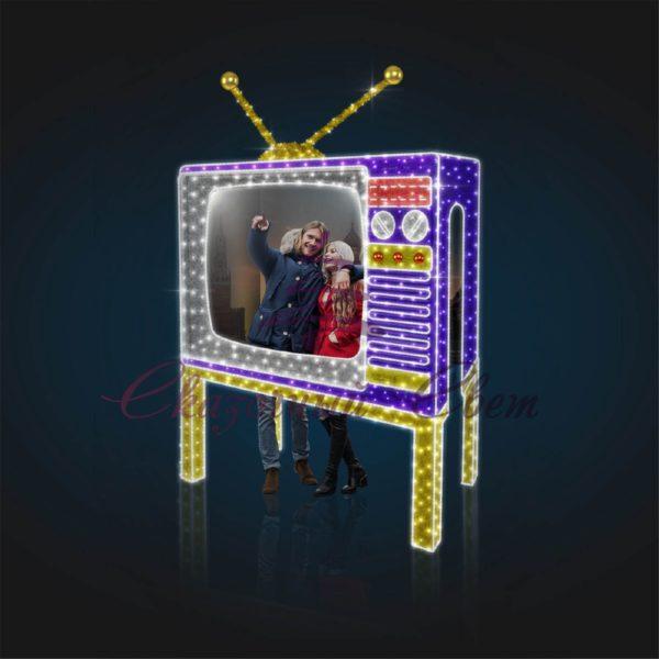 Световая фотозона Телевизор В 3,2 м х Ш 2,7 м х Г 1,5 м - FZ 304 1