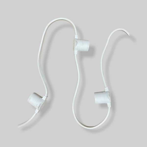 Белт-лайт белый 2х проводный шаг 40см е27 влагостойкий IP65 1