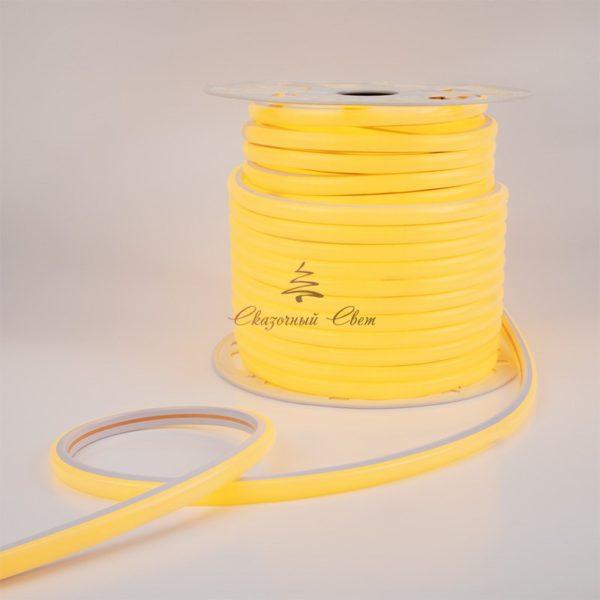 Гибкий неон LED 12V 8х16мм, кратность резки 2.5cм, желтый 1
