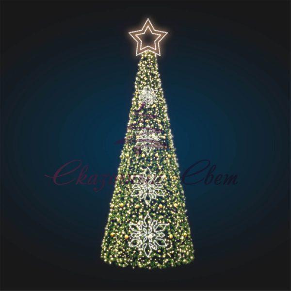 Новогодняя конус-елка В 7,0 м х Ш 2,5 м х Г 2,5 м - KT 01 1