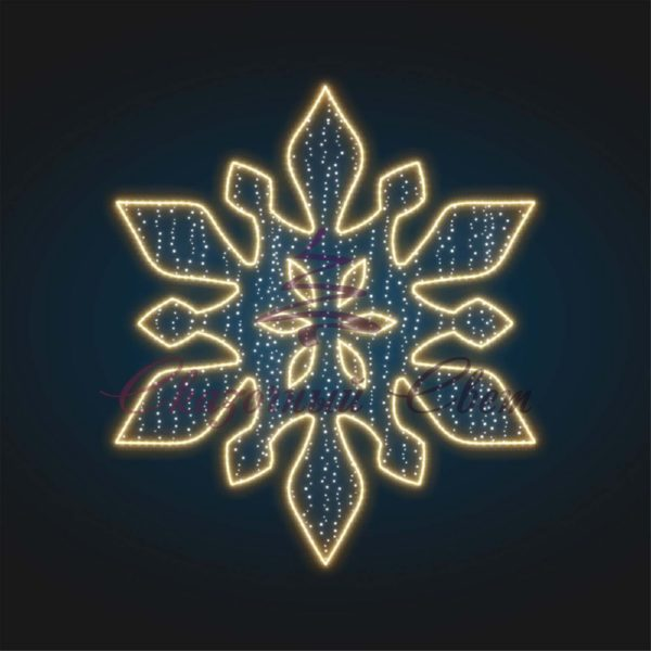 Снежинка световая новогодняя KT 16 В 2,0 м х Ш 1,75 м - KT 16 1