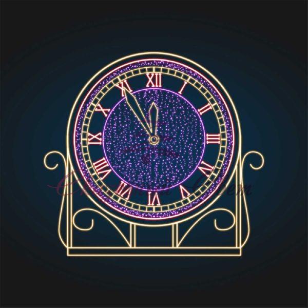 Новогодняя композиция Часы - MS 02 MS 02 - Ш 1,60 м х В 1,50 м х Г 0,60 м 1