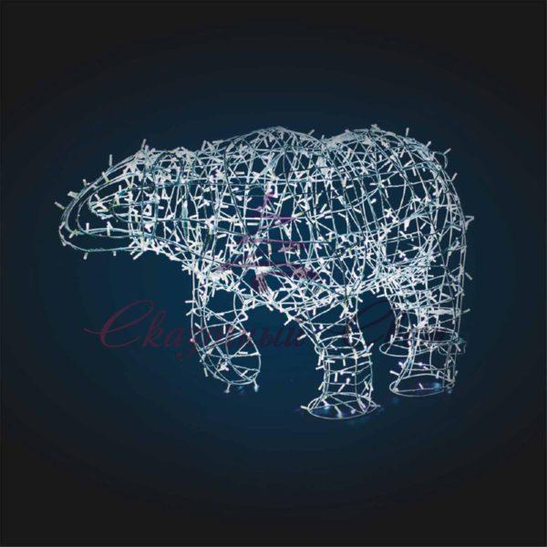 Световая фигура Медведь, каркас OL 100 - Ш 1,70 м х В 1,00 м х Г 0,70 м 1