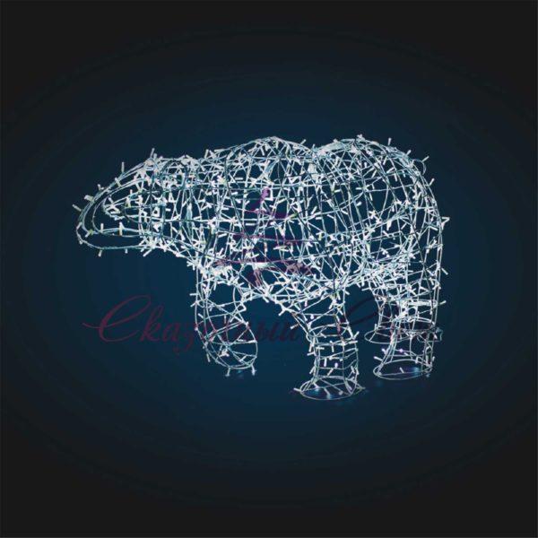 Световая фигура Медведь, каркас В 1,4 м х Ш 2,1 м х Г 0,9 м - OL 106 1