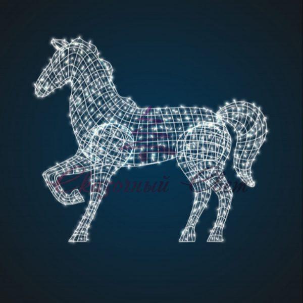 Световая фигура Лошадь, каркас OL 180 - Ш 2,20 м х В 2,30 м х Г 0,60 м 1