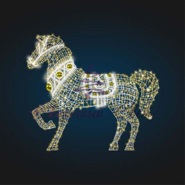 Световая фигура Конь, каркас В 2,3 м х Ш 2,6 м х Г 0,6 м - OL 181 1