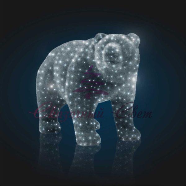 Медведь из мишурного ковра В 1,8 м х Ш 2,2 м х Г 1,2 м - OL 303 1
