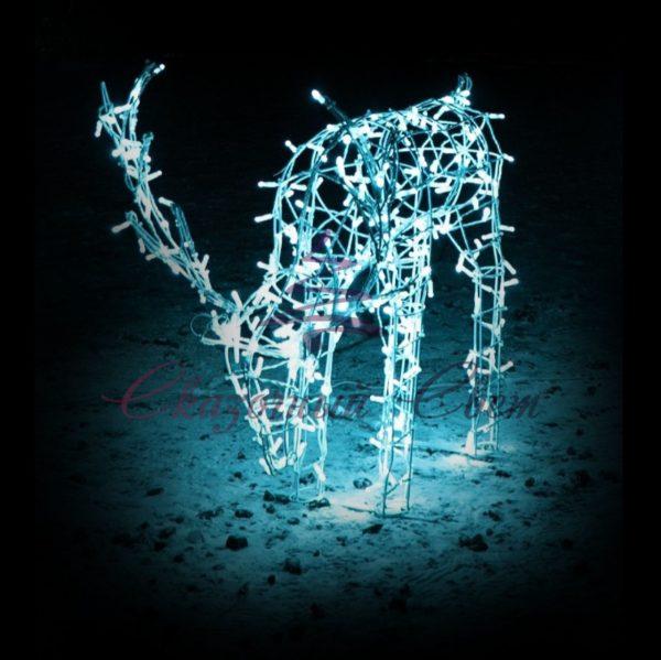 Световой олень, каркас, серия 1,9 м, пьющий OL 53 - Ш 1,00 м х В 1,10 м х Г 0,28 м 1